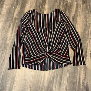 Size small long sleeve stripe top